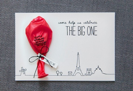hand-crafted-invitation-card-with-balloon-for-a-first-birthday-celebration